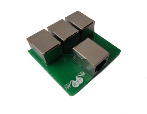 RJ45 4 way splitter for firing